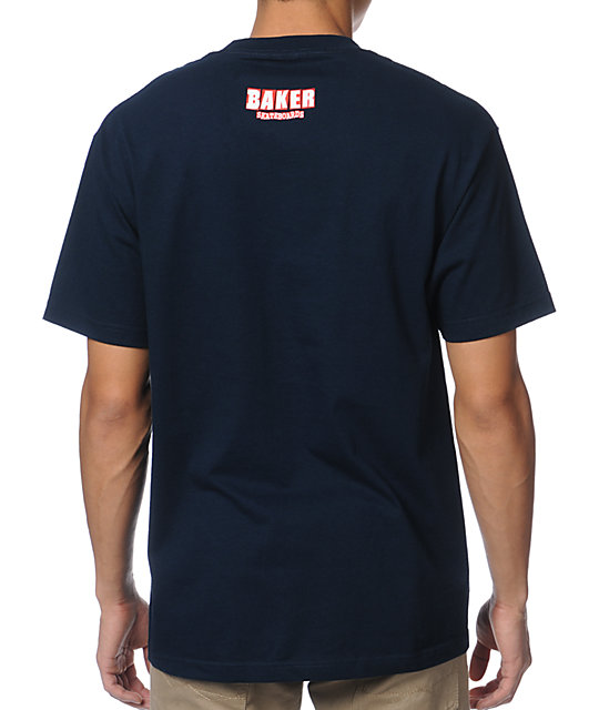 Baker Skateboards B Blue T-Shirt