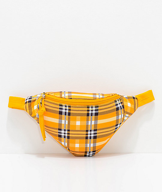 Barganza Yellow Plaid Fanny Pack by Barganza
