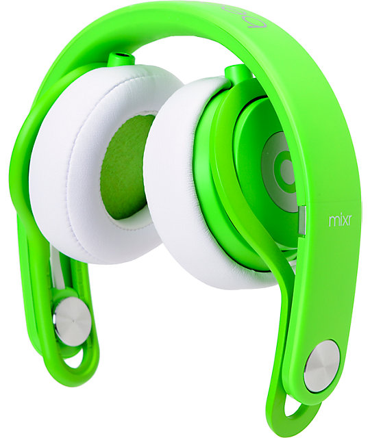Beats By Dre Mixr Limited Edition Neon Green Headphones Zumiez