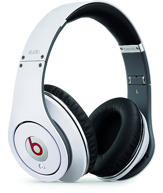 Beats By Dre Studio White Headphones