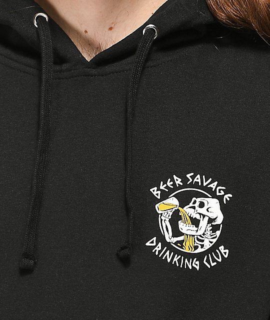 Beer Savage Bone Club Black Hoodie