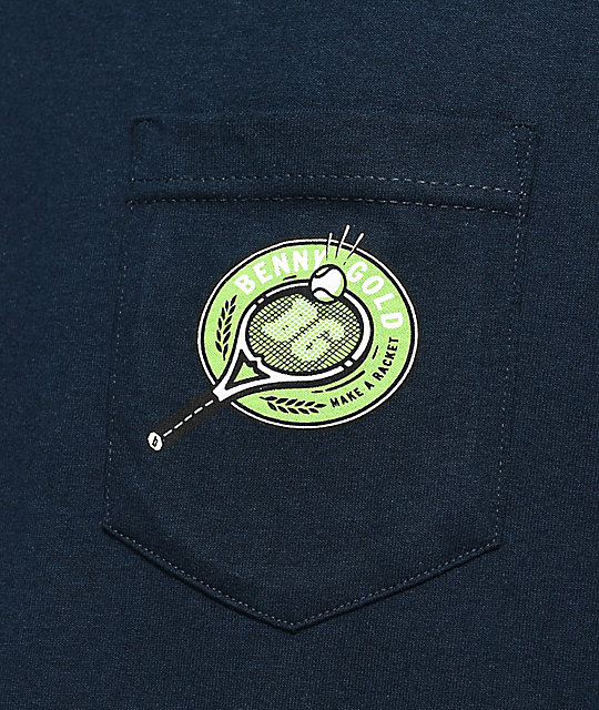 Benny Gold Court Navy Pocket T-Shirt