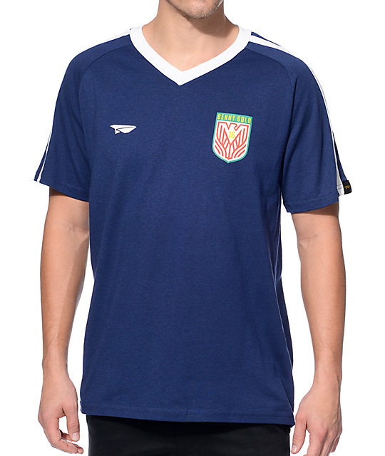 new style 0512f 1d51c Benny Gold Eagle Navy Soccer Jersey T-Shirt