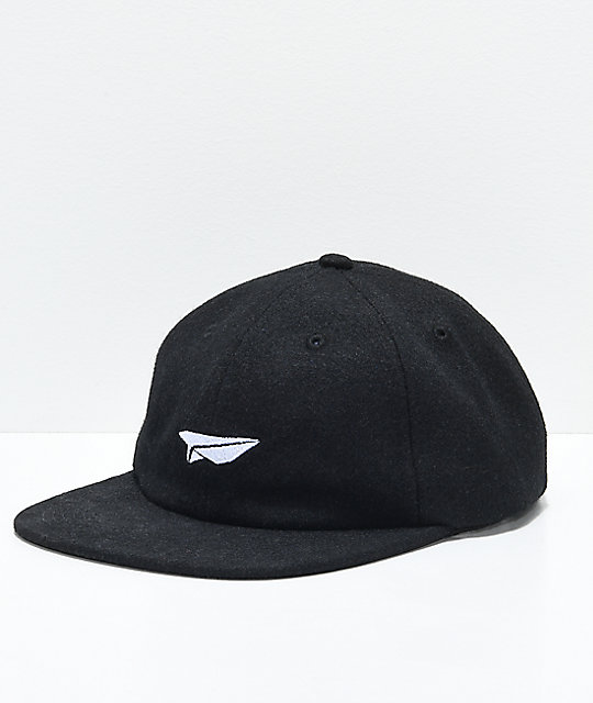 Benny Gold Paper Plane Wool Polo Strapback Hat