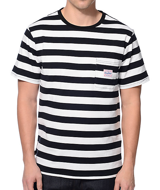 3a72ebc9 Benny Gold Premium Stripe Black Pocket T-Shirt | Zumiez