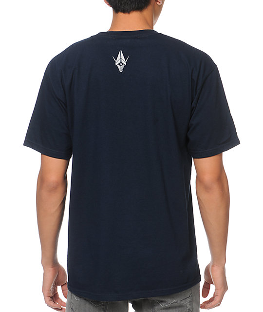 Benny Gold Pyramid Navy T-Shirt