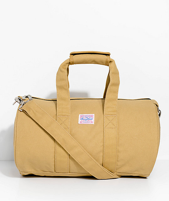 Benny Gold Small Tan Canvas Duffle Bag