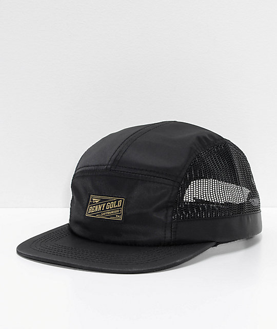 Benny Side Mesh Black Strapback Hat