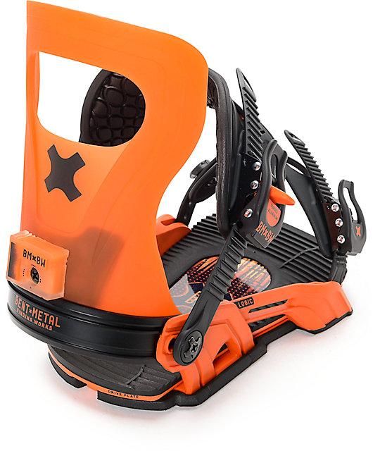 Bent Metal Logic Orange Snowboard Bindings