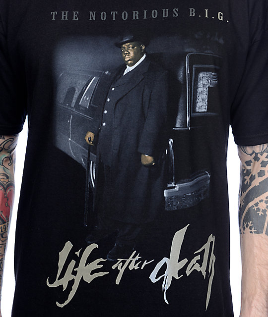 9d80a95f5e6 ... Biggie Life After Death Black T-Shirt