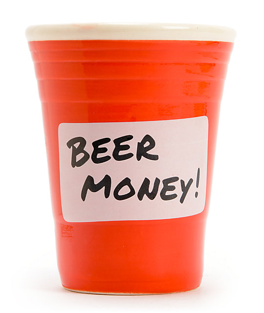 Bigmouth Beer Money Red Cup Piggy Bank