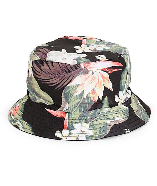 Billabong Aloha Floral Reversible Bucket Hat  0c0c9354a25