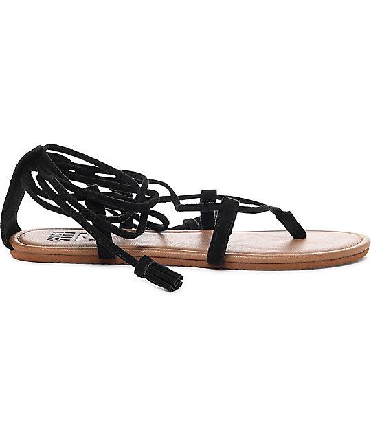 a6409579f6d638 ... Billabong Around The Sun Black Sandals ...