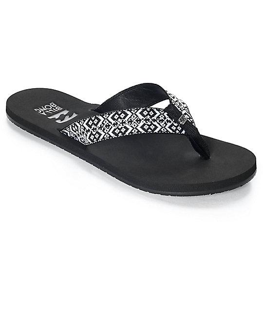 Billabong Baja Black & White Woven Sandals ...