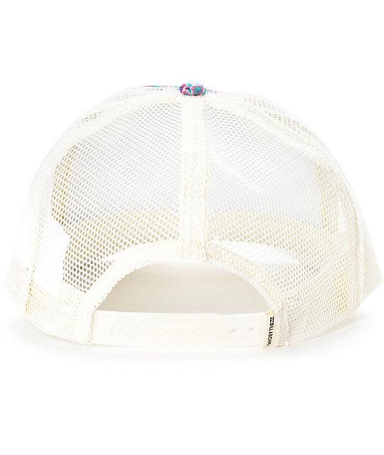 e3da840d79dea3 Billabong Beach Beauty Multi White Trucker Hat | Zumiez