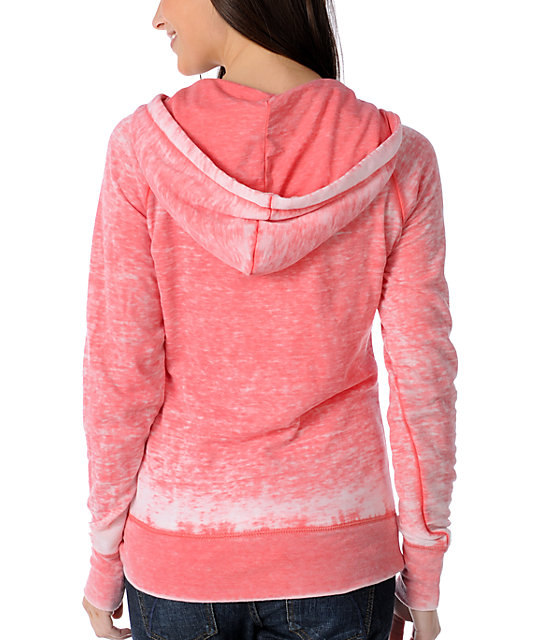 Billabong Coral June Gloom Burnout Pullover Hoodie