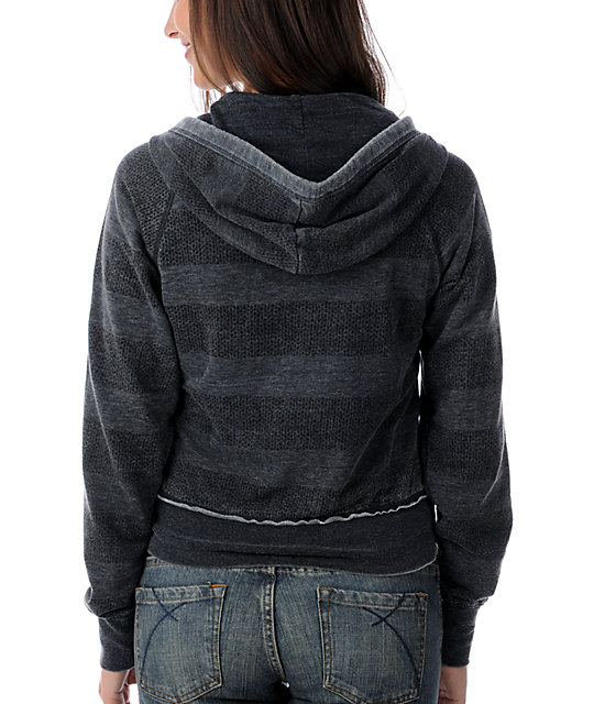 Billabong Cravasse Stripe Charcoal Hoodie