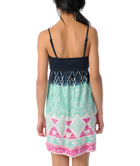 Billabong Dreamin On Navy Knit Dress