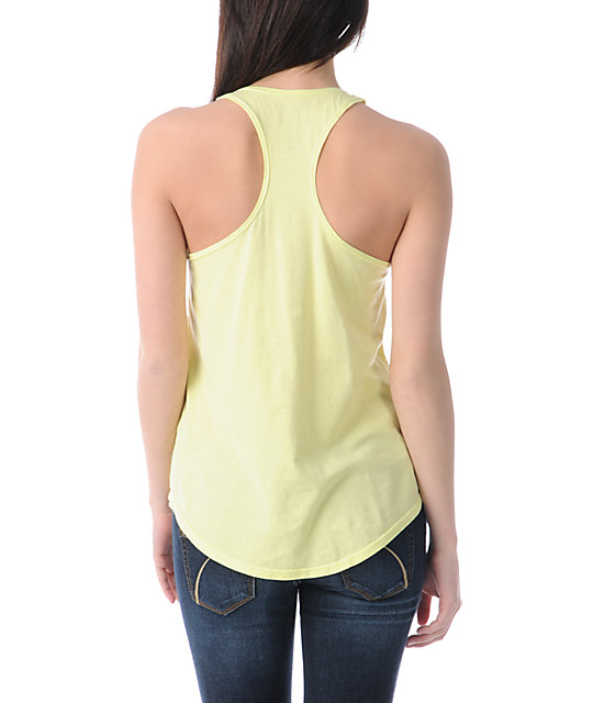 Billabong Friend Lover Neon Yellow Tank Top