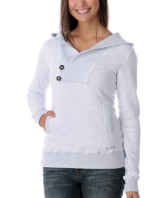 Billabong Girl Lilly Grey Pullover Sweatshirt