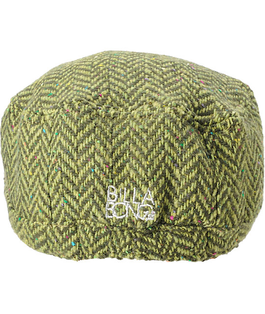 Billabong Green Herringbone Hat