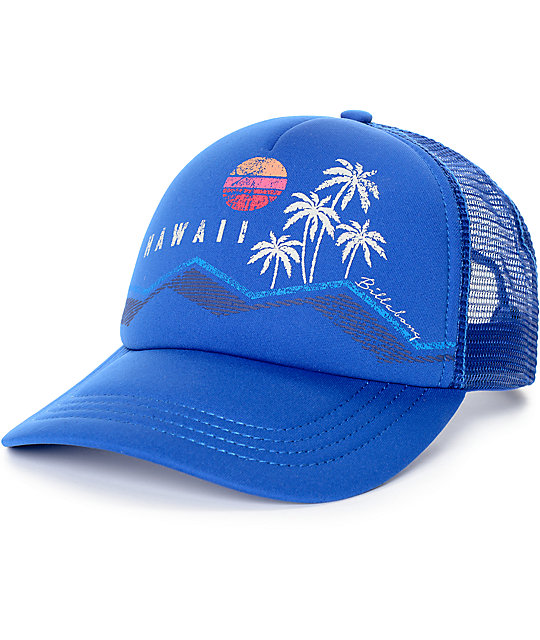 Billabong Hawaii Blue Trucker Hat