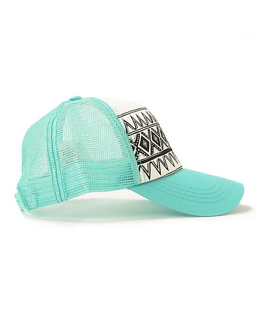 29c6ff0dc92aee Billabong I Heard Mint Tribal Print Trucker Hat | Zumiez
