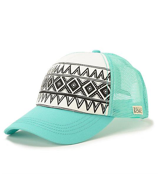 3039e1b2 Billabong I Heard Mint Tribal Print Trucker Hat | Zumiez