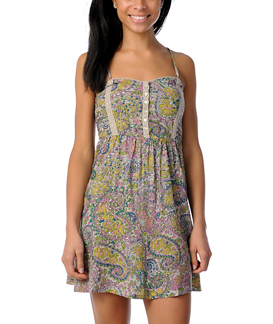 Billabong Jessa Floral Print Woven Dress