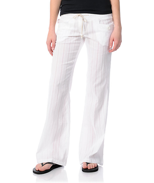 Billabong Laying Low White Beach Pants