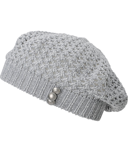 Billabong LuLu Grey Lurex Beanie