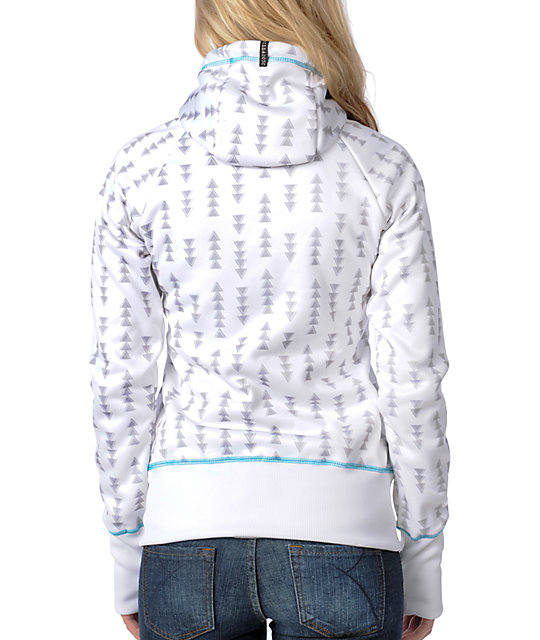 Billabong Mirror Mirror White Tech Fleece Jacket