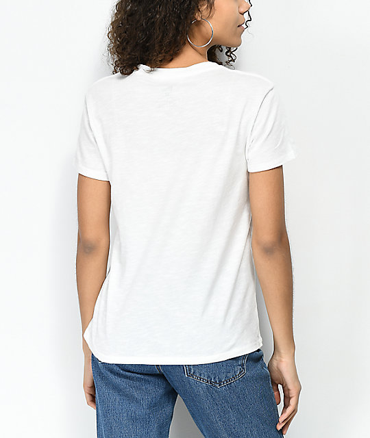 Billabong Old School New Wave White T-Shirt