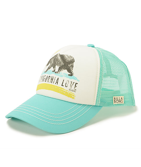 Billabong Pitstop Cali Love Mint Trucker Hat  5ee1a3facec