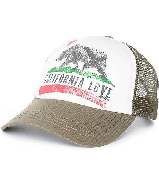55455dd7d Billabong Pitstop Cali Olive Snapback Hat