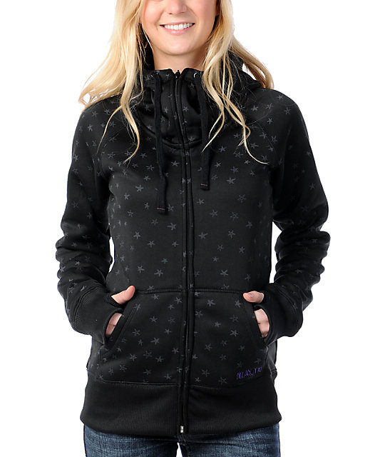 Billabong Ramble On Black Tech Fleece Jacket