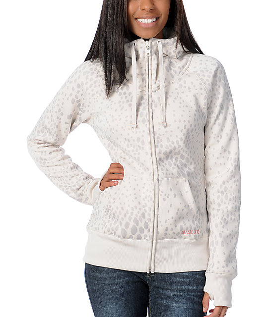 Billabong Ramble On Cream Tech Fleece Jacket