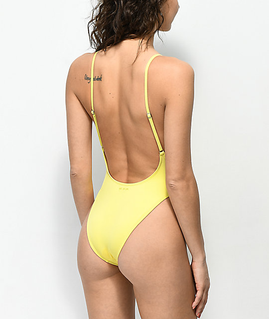 Billabong Reissue Sunkissed Yellow One Piece Swimsuit