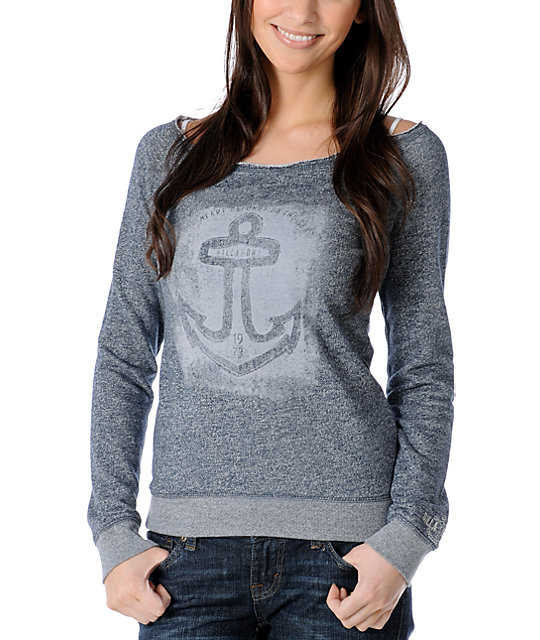 Billabong Sailor Wavy Navy Heather Pullover Sweatshirt