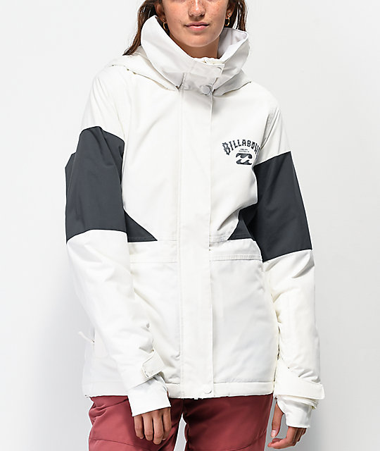 Billabong Say What 10K chaqueta de snowboard blanca