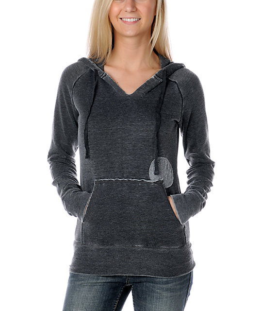 Billabong Softly Spoken Charcoal Pullover Hoodie