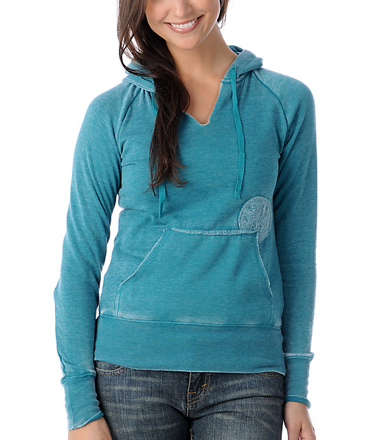Billabong Softly Spoken Turquoise Pullover Hoodie