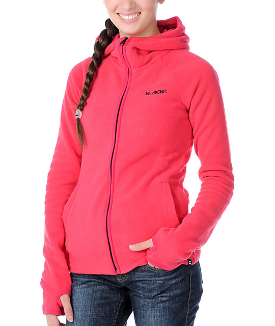 Billabong Whistler Pink Polar Tech Fleece Jacket