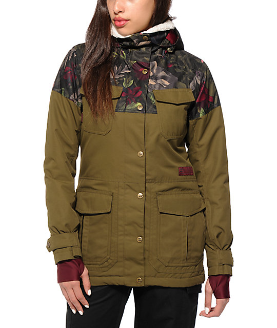 quality design 3ce81 1faa9 Billabong Z74 Floral Military 10K Snowboard Jacket