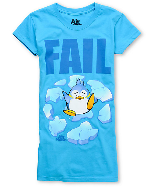 Bitter Sweet Fail Penguin Turquoise T-Shirt