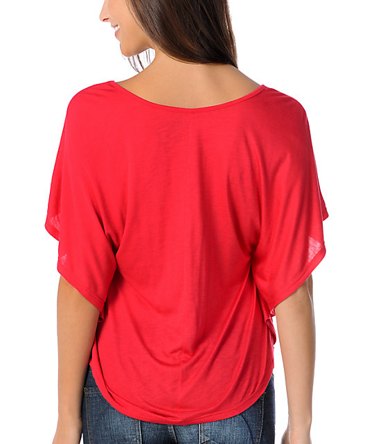 Bitter Sweet Rock Out Oversized Batwing Top