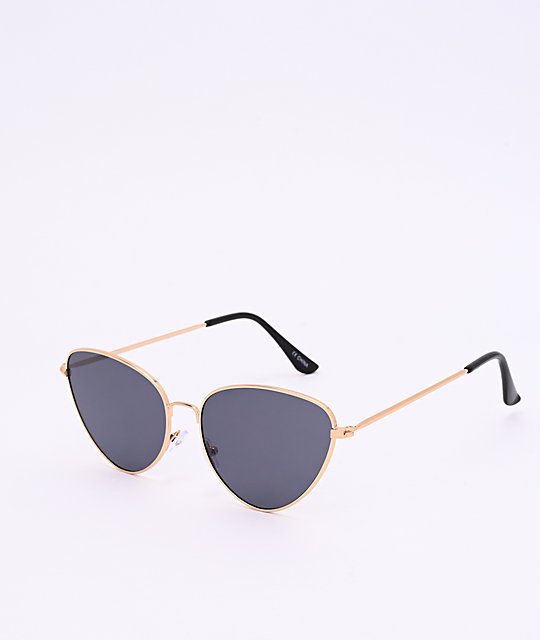 Black & Gold Cateye Sunglasses
