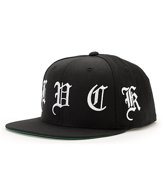 Black Scale English BLVCK Black Snapback Hat  14412153b92