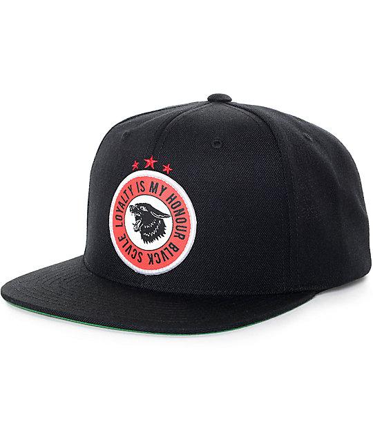 6b49a373785 Black Scale Havoc Black Snapback Hat