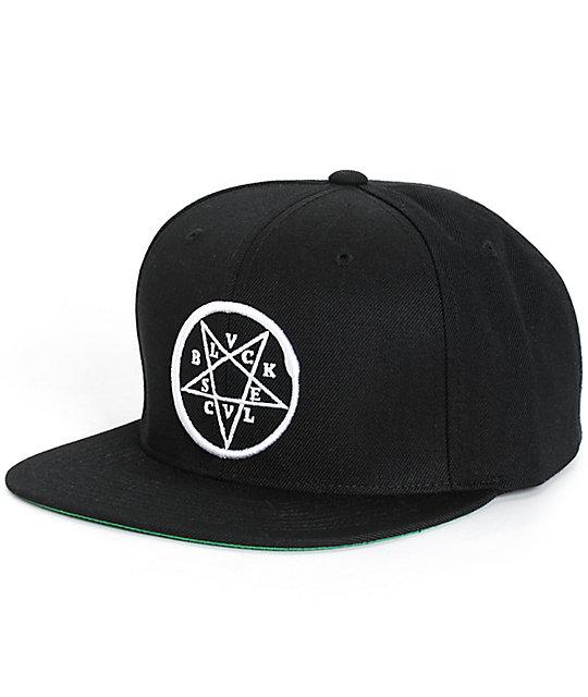 Black Scale Ophida Snapback Hat  480e9d6d497